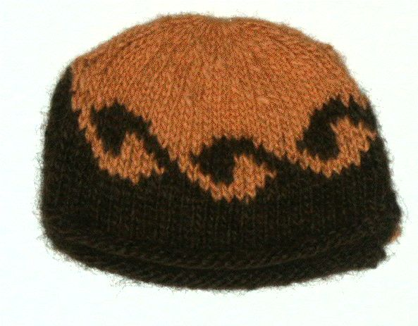 wave in  brown and butternut Lopi wool